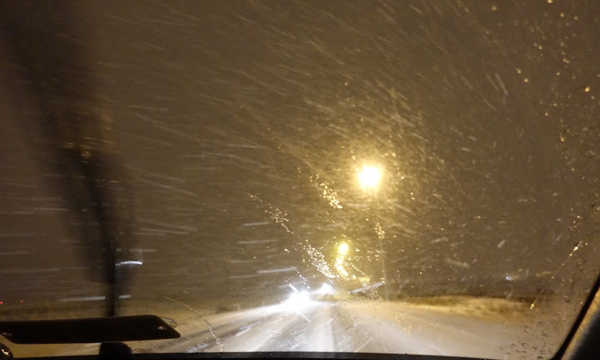 Blizzard Road Driving in Iceland
