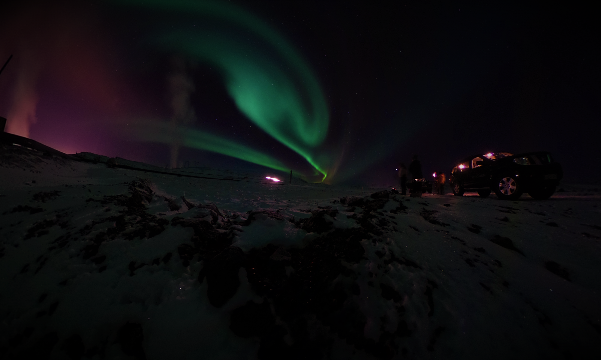 Aurora Borealis - Iceland Geothermal Plant Northern Lights Tour